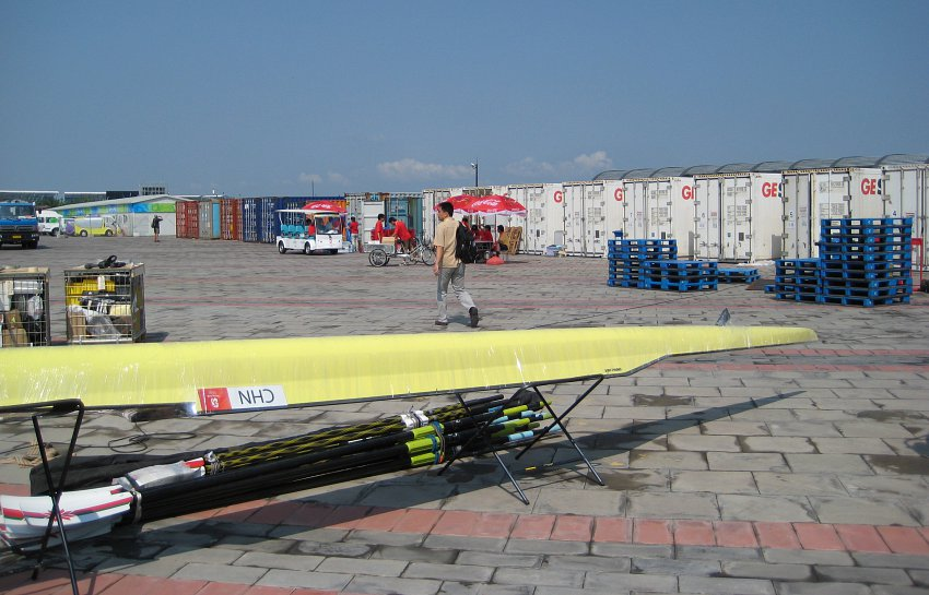 Rowing Container Park at Beijing Olympics